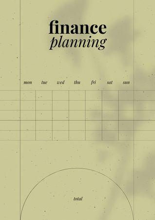 Ontwerpsjabloon van Schedule Planner van Stylish Finance planning