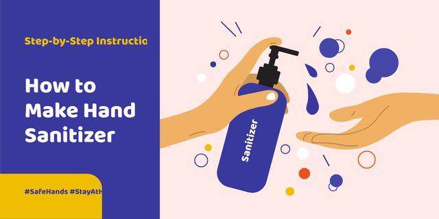 #SaveHands Instruction how to make Hand Sanitizer Twitter Modelo de Design