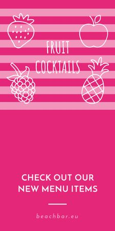 Template di design Fruit Cocktails Offer in Pink Graphic
