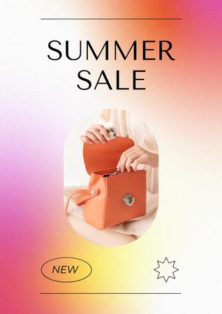 Summer Sale Ad with Stylish Female Bag Posterデザインテンプレート