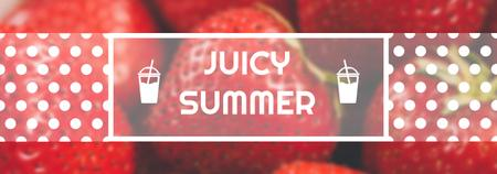 Template di design Summer Offer Red Ripe Strawberries Tumblr