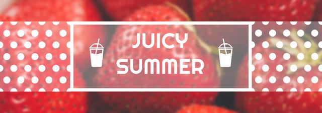Plantilla de diseño de Summer Offer Red Ripe Strawberries Tumblr