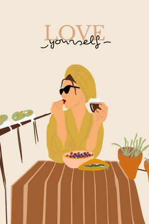 Plantilla de diseño de Girl Power Inspiration with Stylish Woman Pinterest