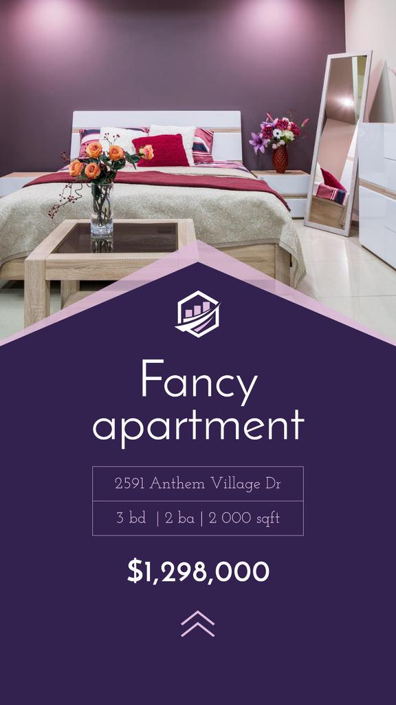 Real Estate Ad Cozy Bedroom Interior — Crear un diseño
