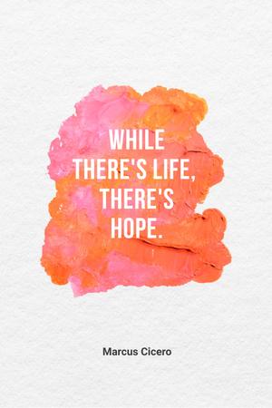 Inspirational Quote with Bright Watercolor Blots Pinterest Modelo de Design