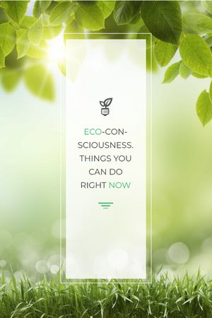 Ontwerpsjabloon van Tumblr van Eco Technologies Concept Light Bulb with Leaves