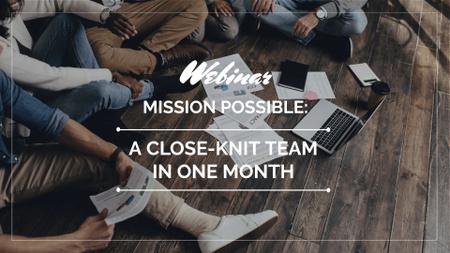 Modèle de visuel Business Team Working on a Floor - FB event cover