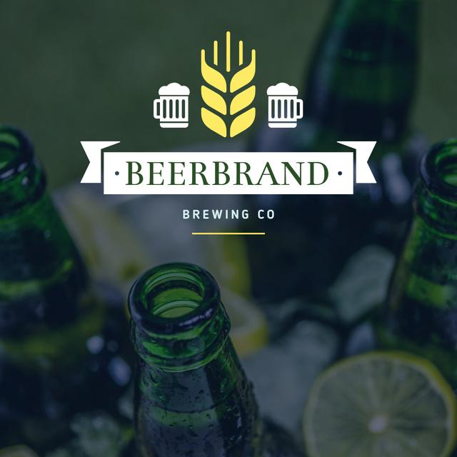 Modèle de visuel Brewing company Ad with Beer Bottles - Instagram