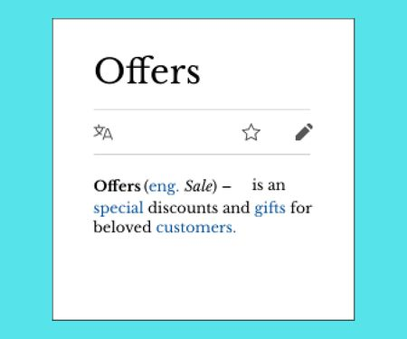Funny Explanation of Offers Large Rectangle – шаблон для дизайну