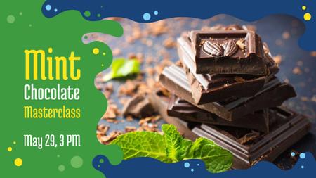 Chocolate Mint masterclass announcement FB event cover Design Template