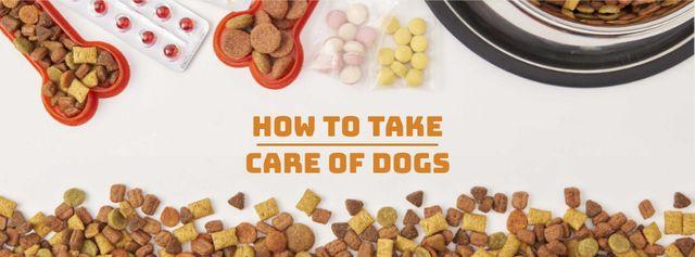 Plantilla de diseño de Pet Food and Supplements Offer Facebook cover