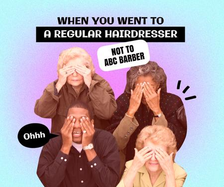 Plantilla de diseño de Joke about visiting Hairdresser Facebook