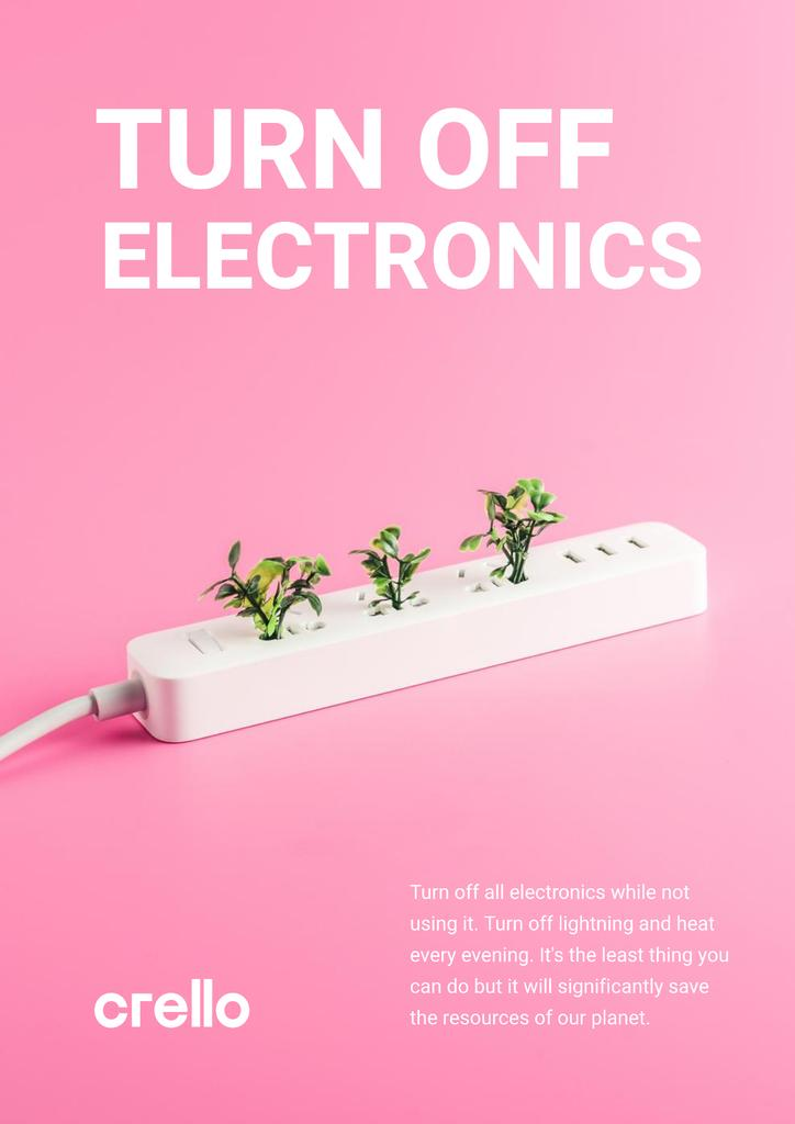 Energy Conservation Concept with Plants Growing in Socket — Crear un diseño