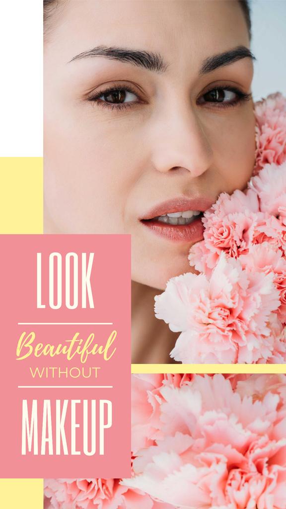 Beauty Inspiration Young Girl without makeup — ein Design erstellen