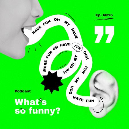 Template di design Comedy Podcast Topic Announcement Podcast Cover
