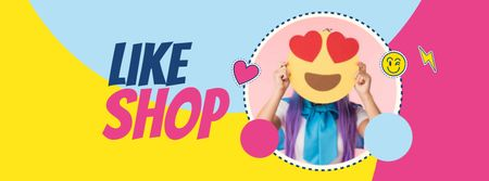 Emoji Day Sale Offer Facebook cover Modelo de Design