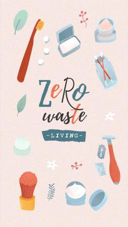 Zero Waste Concept with Eco Products Instagram Storyデザインテンプレート