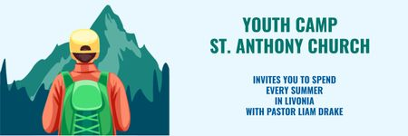 Plantilla de diseño de Youth religion camp of St. Anthony Church Twitter