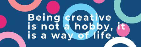 Plantilla de diseño de Citation about how to be a creative Twitter
