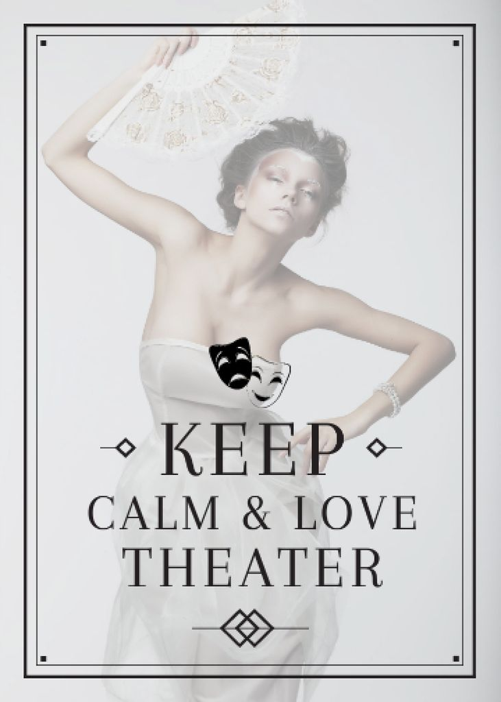Theater Quote Woman Performing in White — Create a Design