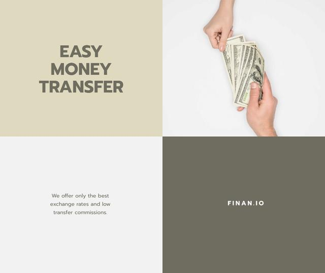 Money Transfer services promotion Facebookデザインテンプレート