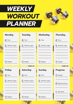 Workout Plan for Week with dumbbells