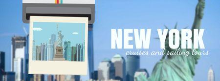 New York travelling spots on snapshop Facebook Video cover Tasarım Şablonu