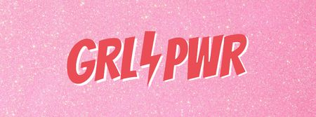 Girl Power Inspiration on pink Facebook cover Modelo de Design