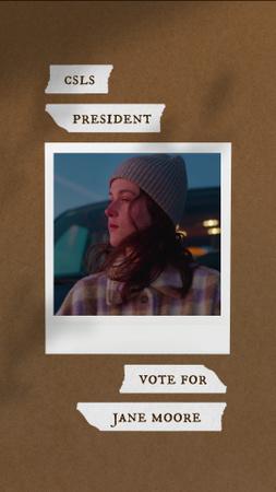 Designvorlage Girls President Election Announcement für Instagram Video Story