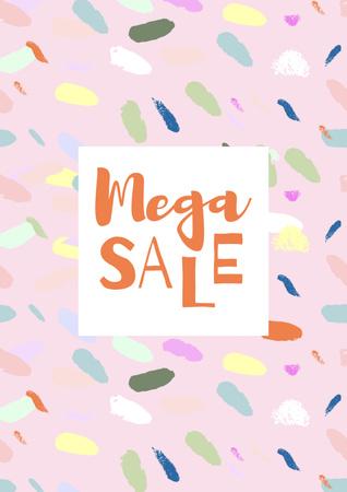Sale announcement on colorful pattern Poster Modelo de Design