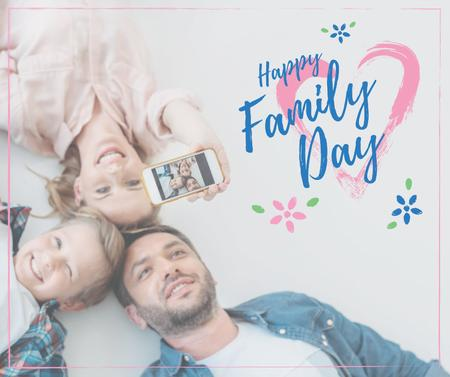 Parents with Daughter on Family Day Facebookデザインテンプレート