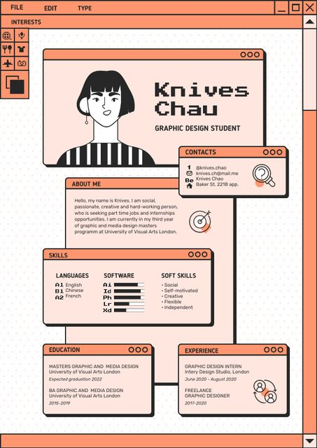 Graphic Designer skills and experience Resume Πρότυπο σχεδίασης