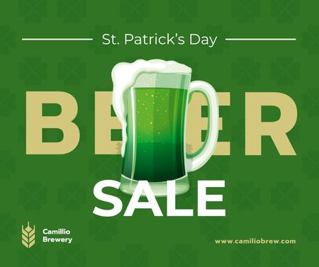 Saint Patrick's Day mug with beer Facebook – шаблон для дизайну