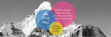 Hike Trip Announcement Scenic Mountains Peaks