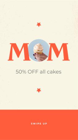 Delicious Cakes Offer on Mother's Day Instagram Story Tasarım Şablonu