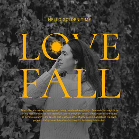 Autumn Inspiration with Beautiful Young Woman Instagram Modelo de Design