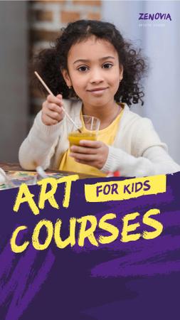 art courses Instagram Story – шаблон для дизайну