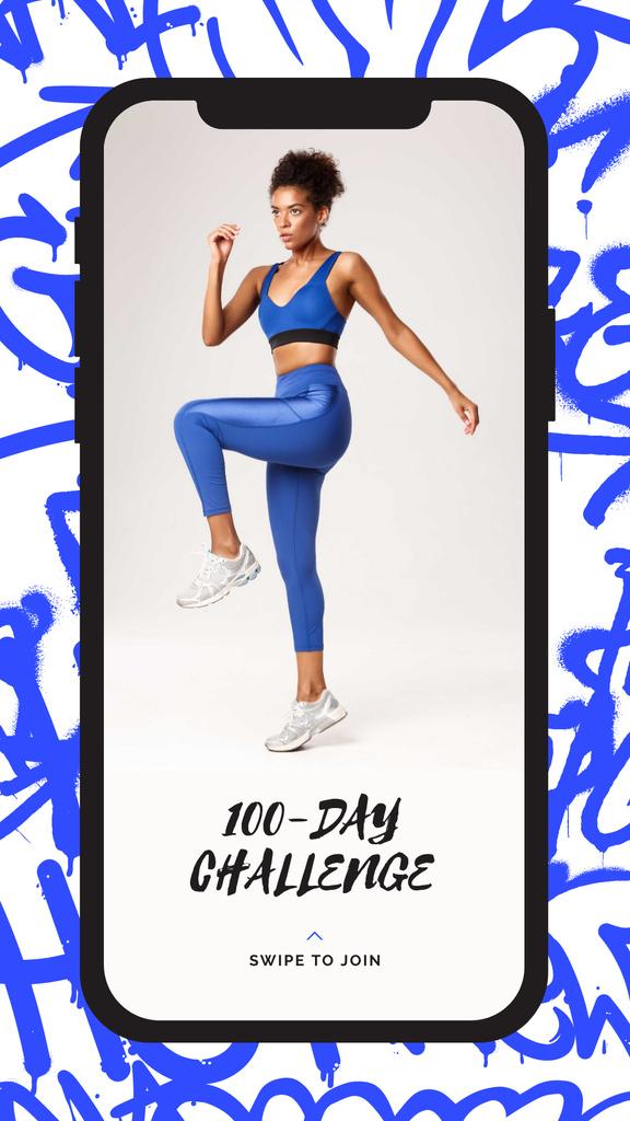 Fitness Challenge with Woman Training — Créer un visuel