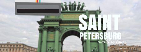 Saint Petersburg famous travelling spots Facebook Video cover Tasarım Şablonu