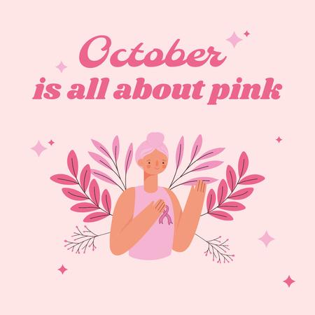 Breast Cancer Awareness Month Announcement Instagram – шаблон для дизайну