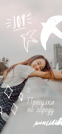 Girl on walk in City Snapchat Geofilter – шаблон для дизайна