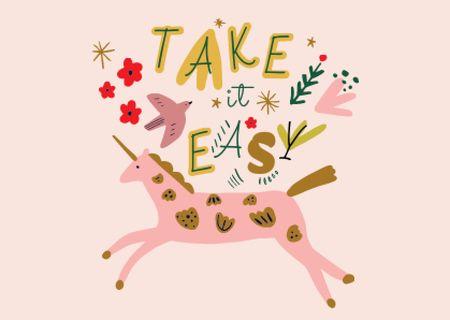 take it easy Card – шаблон для дизайну