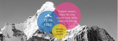 Template di design Hike Trip Announcement Scenic Mountains Peaks Tumblr