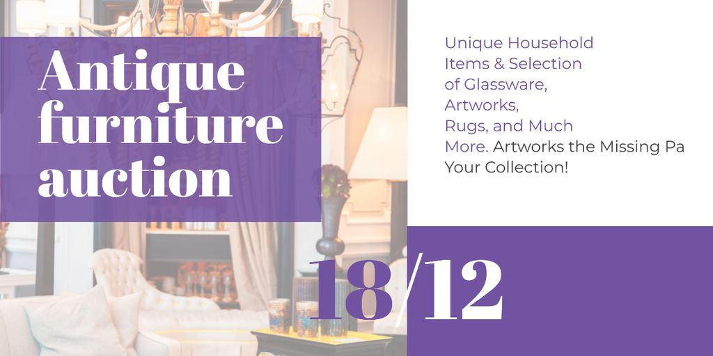 Antique Furniture Auction Image – шаблон для дизайна