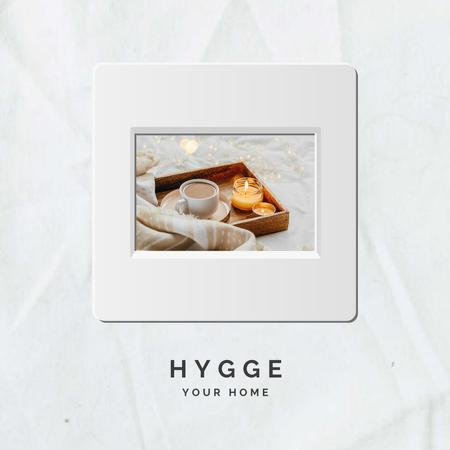 Designvorlage Coffee at Hygge Home für Instagram