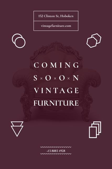 Antique Furniture Auction with Luxury Armchair Pinterest – шаблон для дизайну