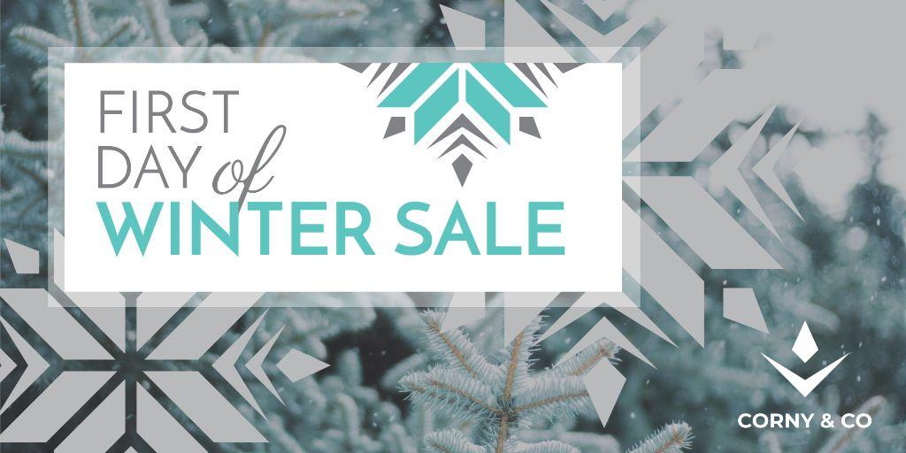 First day of winter sale — Crea un design