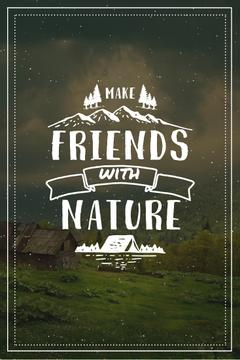 Nature Quote with Scenic Mountain View