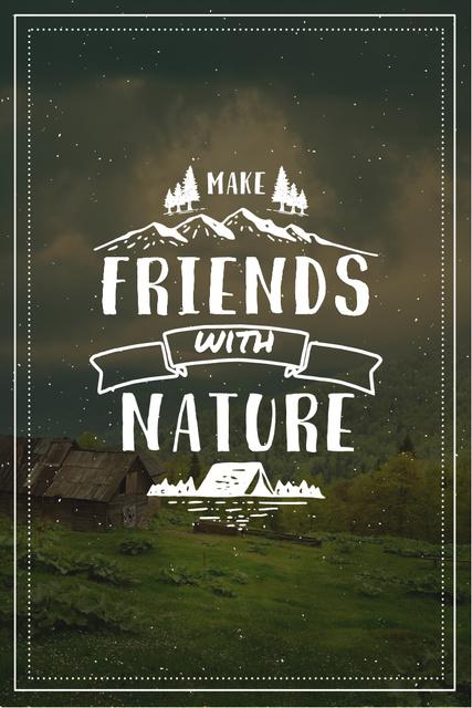 Plantilla de diseño de Nature Quote with Scenic Mountain View Pinterest
