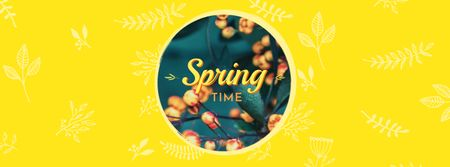 Modèle de visuel Spring Time with Buds on Trees - Facebook cover